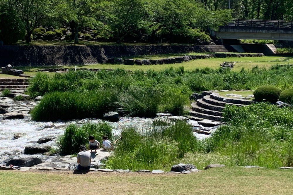 櫛形総合公園 滝沢川