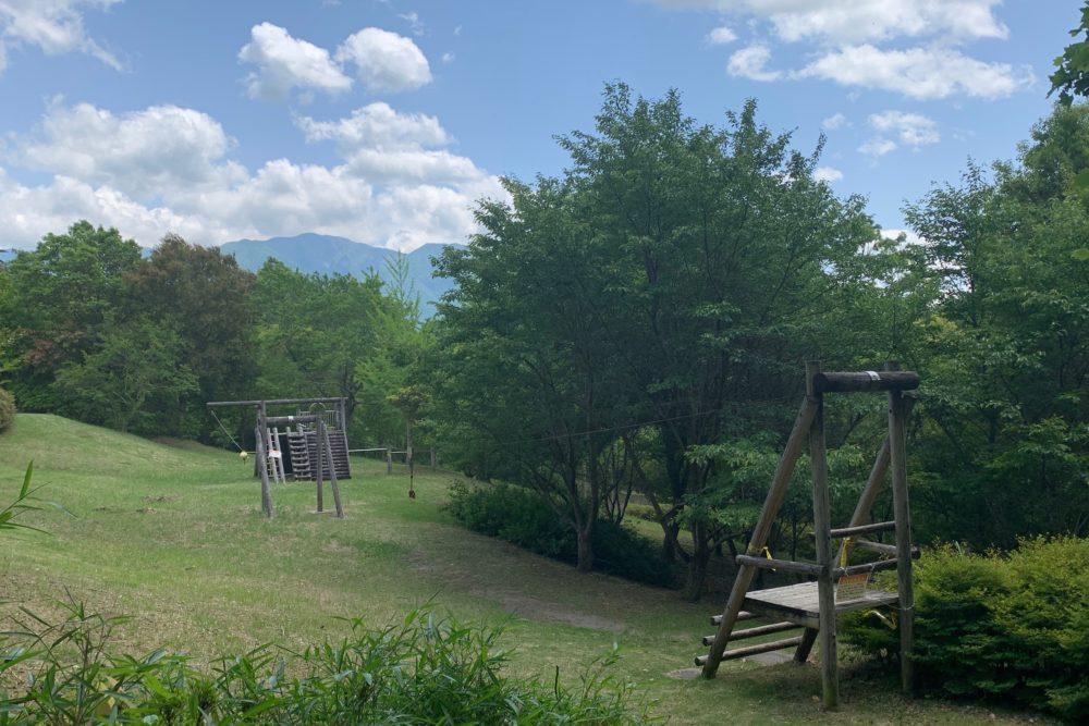 ふれあいの森公園ターザンロープ